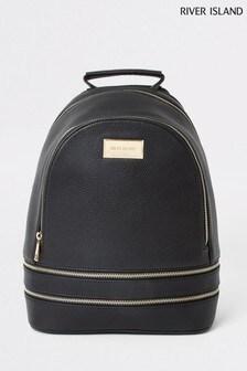 River Island Black Zip Bag