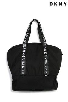 Черная сумка с логотипом на ручке DKNY