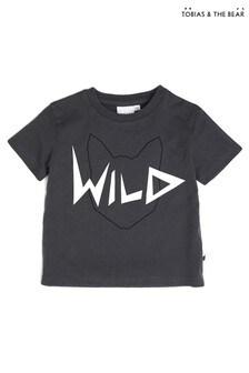 Tobias & The Bear Grey Wild Organic Cotton T-Shirt