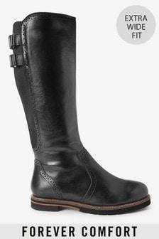 Высокие ботинки с фигурными вставками и перфорацией Forever Comfort®