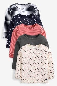 Набор из 5 футболок (3 мес.-7 лет)