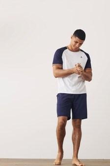Raglan Tipped Short Pyjama Set (224517)   $30