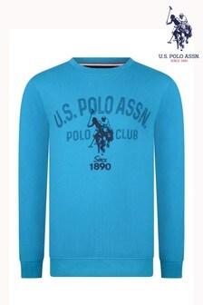 سويتر ياقة مستديرة غرافيك منقط من U.S. Polo Assn.