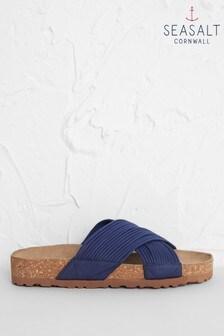 Seasalt Navy Art Lover Sandals
