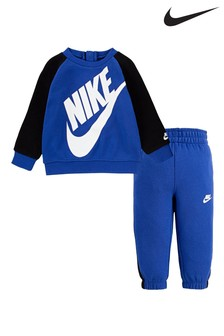Nike Infant Blue Futura Crew And Joggers Set