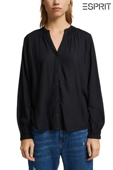 חולצה בצבעשחורשלEsprit