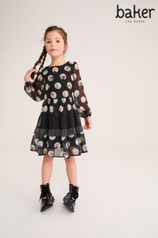 שמלה בדוגמת נקודות של Baker by Ted Baker