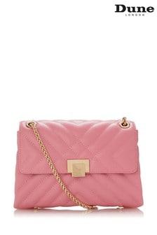 Dune London Pink Dorchester Small Quilted Shoulder Bag