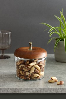 Glass Apple Storage Jar
