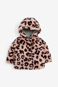Куртка из искусственного меха со звериным узором (3 мес.-7 лет)