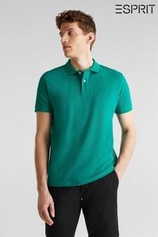 Esprit Polohemd mit Knöpfen, grün