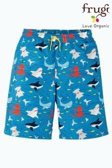 Frugi Oeko Tex Shorts mit Haifisch-Print