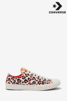 Converse豹紋扭結經典Ox運動鞋