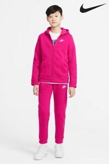 Розовый флисовый спортивный костюмNike