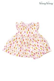Kissy Kissy Kleid mit Ananasmuster, Pink