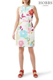 שמלה מפשתן של Hobbs דגם Daria בלבן