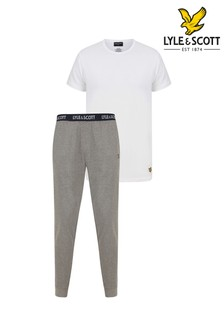 Lyle & Scott Lounge Set Including Cuffed Bottoms And T-Shirt