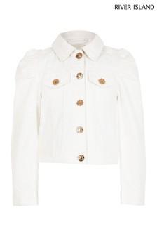 River Island White Denim Jacket