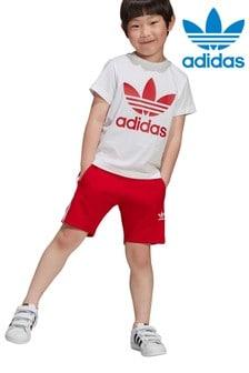 adidas Originals Little Kids Shorts And T-Shirt Set
