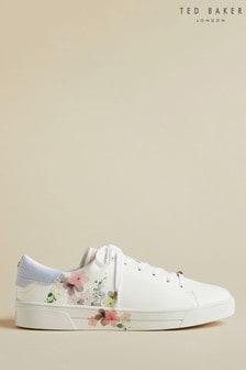 Ted Baker witte sneakers met bloemenmotief