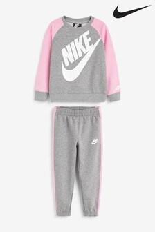 Nike Little Kids Futura Grey Crew And Joggers Set