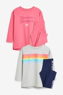 Rainbow 2 Pack Pyjamas (3-16yrs)