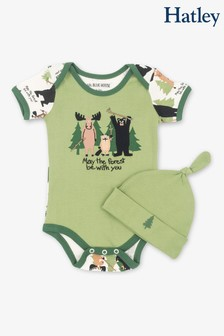 Hatley Green May The Forest Be With You Baby Bodysuit & Hat