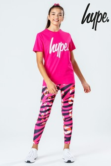 Hype. Set T-Shirt, Printed Leggings & Scrunchie