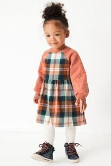 فستان منسوج مربعات (3 شهور -7 سنوات)