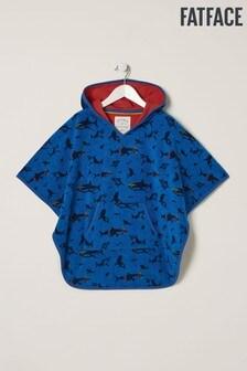 Синее пляжное полотенце-туника с принтом акул FatFace