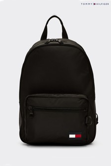 Tommy Hilfiger Black Tommy Flag Backpack