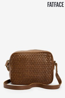 FatFace Brown Marley Woven Detail Cross Body Bag