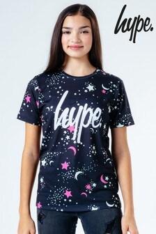 Черная детская футболка со звездамиHype.
