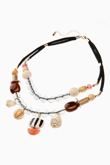 Multi Bead Two Layer Necklace
