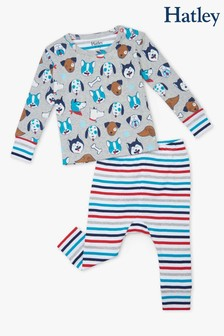 Hatley Cute Pups Organic Cotton Footed Coverall