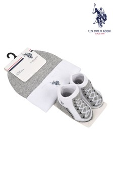 U.S. Polo Assn. Hat And Bootie Set