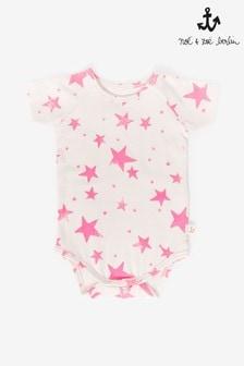Noé & Zoë Kurzärmeliges Trägertop mit Sternen, Pink