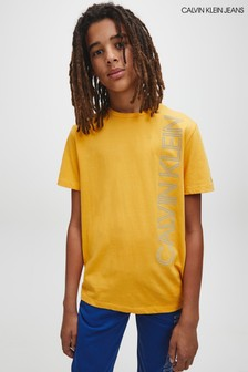 Calvin Klein Jeans Yellow Reflective Lines T-Shirt