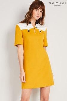 שמלת מיני צהובה שלDamsel In A Dress דגםKiah בשילוב פאנל צבע