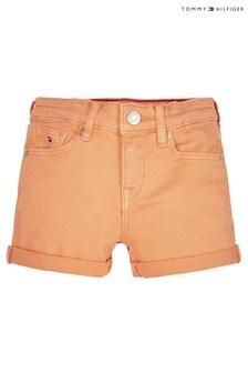 Tommy Hilfiger Orange Nora Denim Shorts