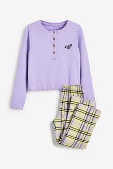פיגמה עם חולצת ריב ומכנסיים משובצים (גילאי 3 עד 16)