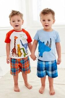 2 piżamy z szortami (9m-cy-8lata)