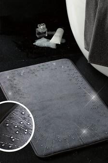 Starburst Diamanté Memory Foam Bath Mat