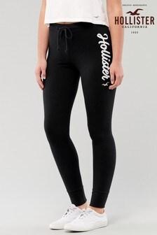 Hollister Black Logo Fleece Leggings