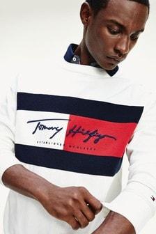 Tommy Hilfiger ホワイト サイン フラッグセーター