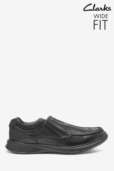 Clarks Black Smooth Leather Cotrell Free Shoes