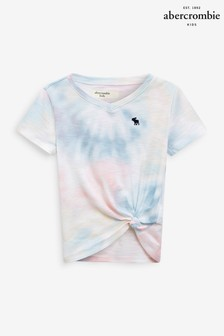 Abercrombie & Fitch Tie Dye Tie Front T-Shirt