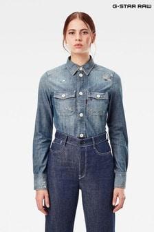 חולצת שמברה של G-Star דגם Kick Back Worker