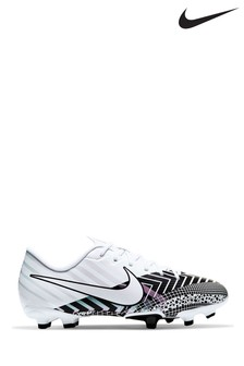 Nike White Mercurial Vapor 13 Academy Multi Ground Youth Football Boots