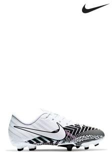 Белые футбольные бутсы категории мультигрунт для подростков Nike Mercurial Vapor 13 Academy